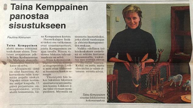 Wilma Kodinsisustus Taina Kemppainen